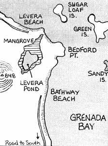 Bathway Beach Grenada Map