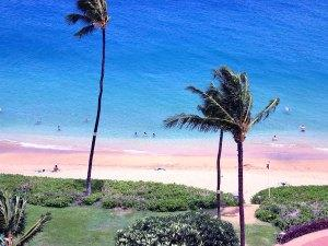 View overhead of Kaanapali, Maui Hawaii
