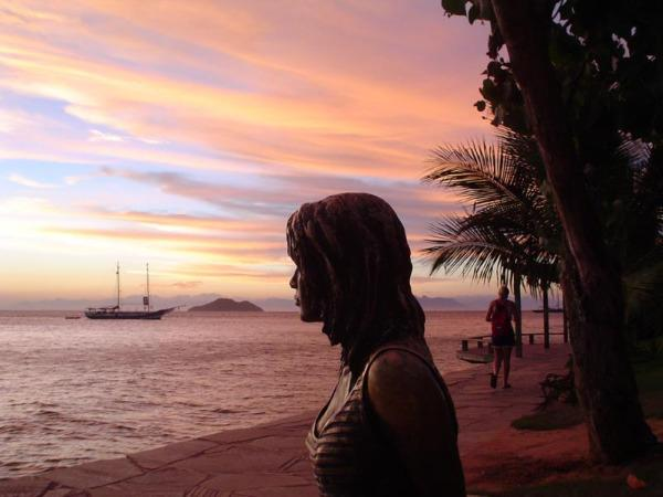 Bardot Statue at Sunset Buzios