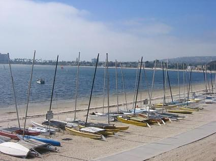 Docked Boats in Mission Bay (San Diego, California)