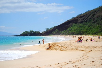 Tanning at Makena Beach, Maui