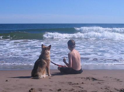 Lawrencetown Beach: Patrick and Lassie