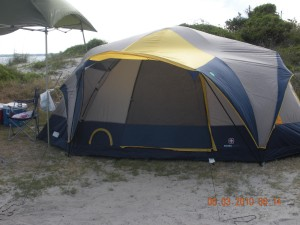 Camping at Huguenot Park Beach, Fort George Island, Florida