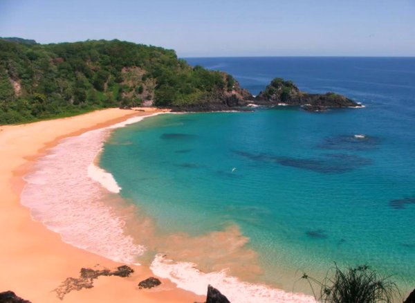 View from cliff above Praia do Sancho, Fernando de Noronha Brazil