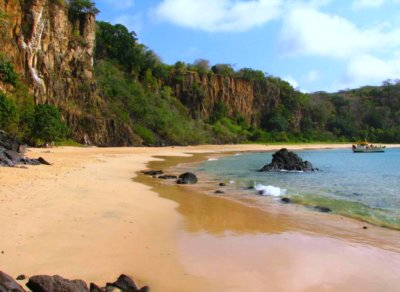 On the beach at Praia do Sancho, Fernando de Noronha